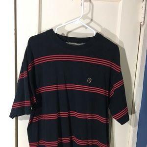 Vintage T Shirt Tommy Hilfiger Stripe Size Large